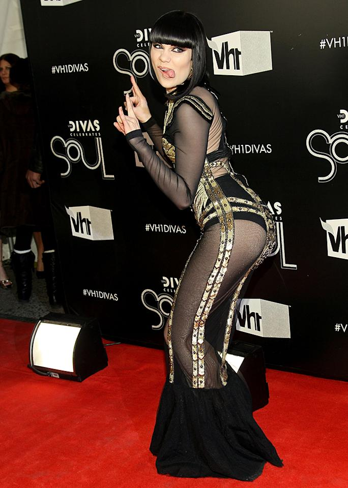 Flaunting what she's got, Jessie Jpops her hip at aVH1 event in 2011.