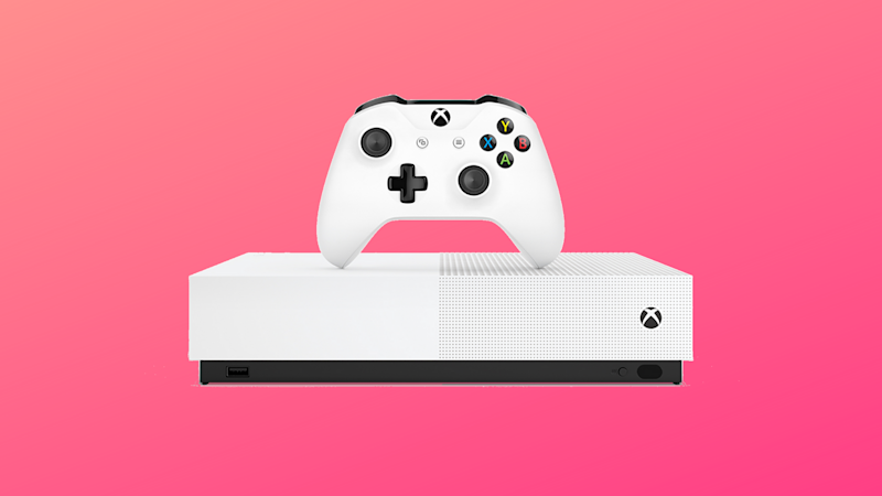 Xbox One S on pink background. (Photo: Walmart)