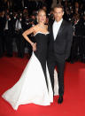 <p>The happy couple makes a rare red carpet appearance at the Cannes premiere of Reynolds's <i>Captives</i> on May 16, 2014. They would welcome their first child that December.<i> (Photo: Mike Marsland/WireImage)</i></p>