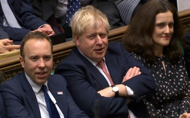 Prime Minister Boris Johnson did not speak during the parliamentary session (AFP Photo/HO)