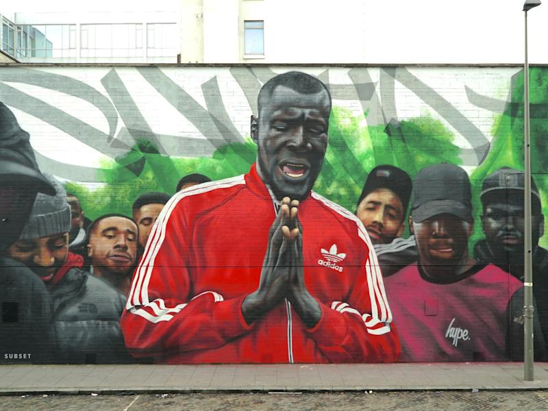 SUBSET's Stormzy mural, which has since been painted over: SUBSET