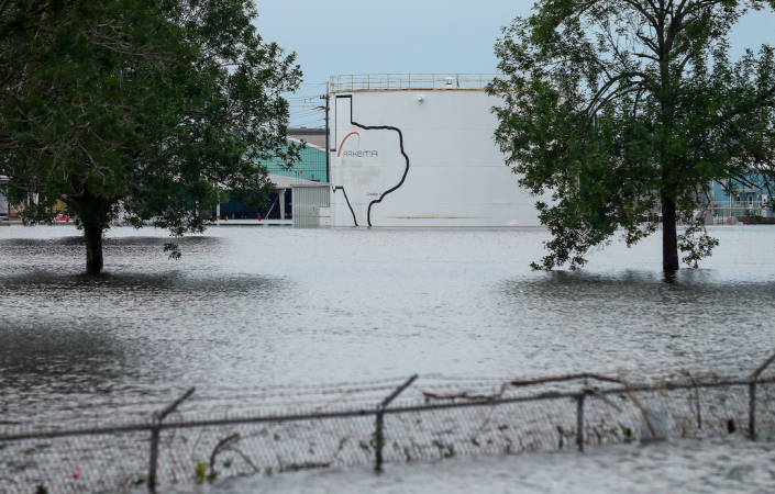<em>The flooded Arkema plant in Crosby is in danger of exploding (PA)</em>