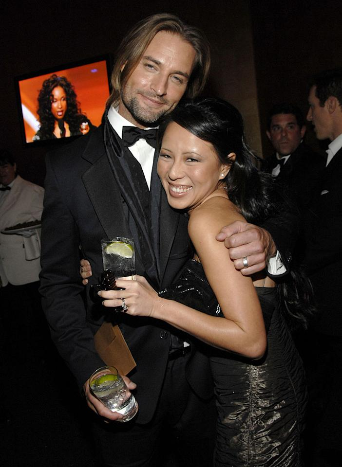 """<a href=""""/josh-holloway/contributor/518662"""">Josh Holloway</a> and wife Yessica Kumala at the In Style and Warner Bros. 2007 Golden Globe After Party."""