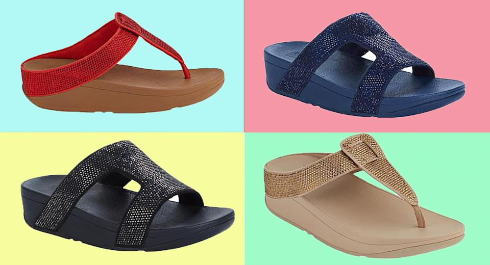 FitFlops Crystal Sandals come in four colors. (Photo: HSN)