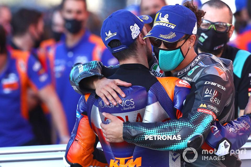 "Miguel Oliveira, Red Bull KTM Tech 3, Franco Morbidelli, Petronas Yamaha SRT<span class=""copyright"">Gold and Goose / Motorsport Images</span>"
