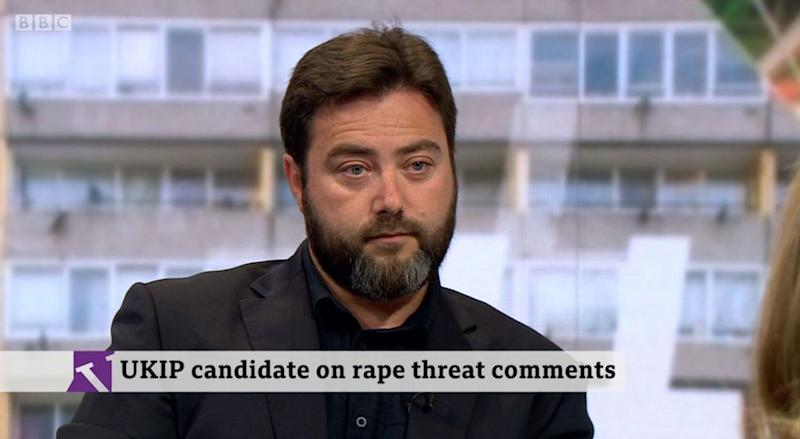 Carl Benjamin defended his comments about raping Labour MP Jess Phillips (BBC)
