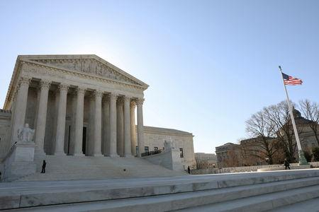 FILE PHOTO: The U.S. Supreme Court building is seen in Washington