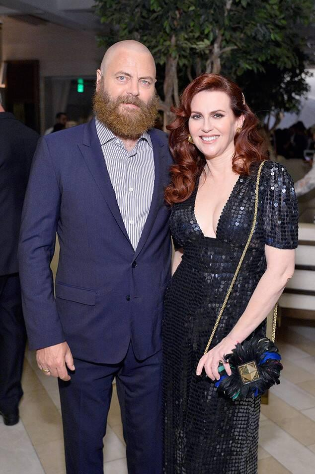 Nick Offerman, Megan Mullally, Pre-Emmys 2018, Party