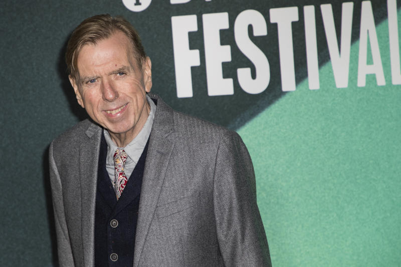 Actor Timothy Spall poses for photographers upon arrival at the premiere of the film 'The Party' during the London Film Festival in London, Tuesday, Oct. 10, 2017. (Photo by Vianney Le Caer/Invision/AP)