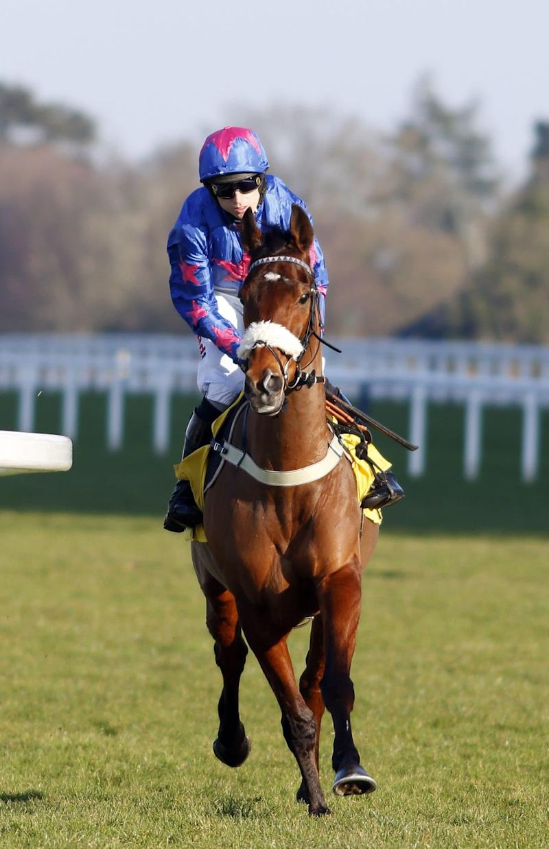 CUE CARD (Paddy Brennan) before winning The Betfair Ascot Chase Ascot Horse Racing - 18 Feb 2017 - Credit: Steven Cargill/racingfotos.c/REX/Shutterstock