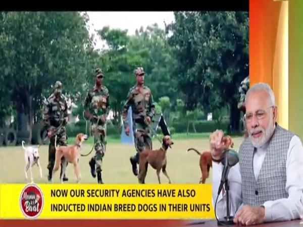 PM Modi pointed out that dogs play an important role in disaster management and rescue missions.
