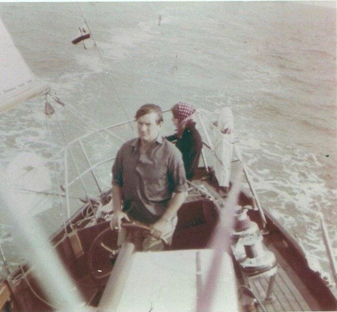 Poland sailing with his eldest daughter Jill: after a short-lived foray into insurance, his life revolved around sailing
