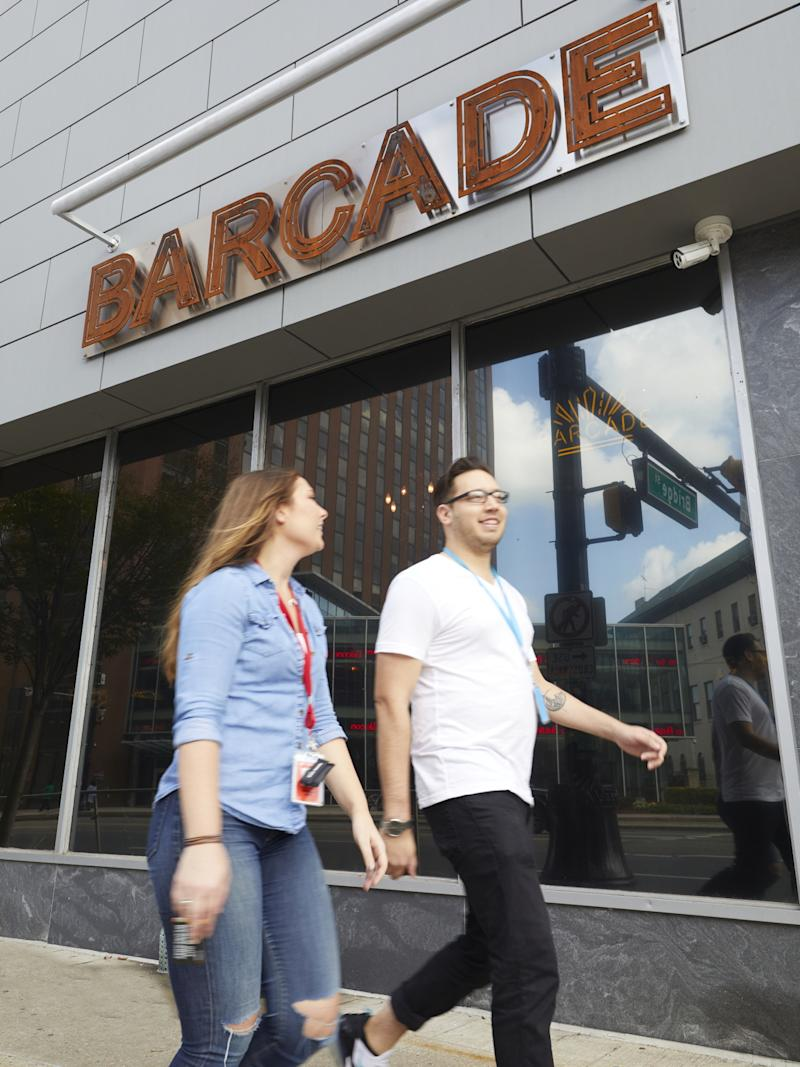 Audible created its Lunch Out Wednesdays program to encourage more foot traffic on Newark streets. The company also hosts work events at local spots, like Barcade.
