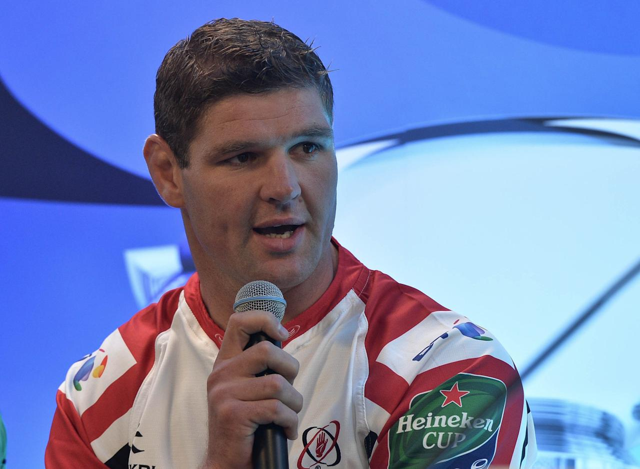 Ulster's Johann Muller during the Irish Heineken Cup Launch at Sky Ireland, Dublin.
