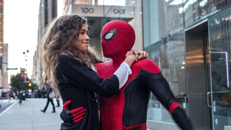 """In a stellar year for Marvel, the return of <em>Spider-Man</em> just a few months after the immense spectacle of <em>Endgame</em> fell somewhat flat. Tom Holland remains the best Peter Parker the big screen has had, but this tired adventure didn't give him room to sparkle. It's a good job he'll be <a href=""""https://uk.movies.yahoo.com/tom-holland-personally-saved-spider-man-deal-with-marvel-074431154.html"""" data-ylk=""""slk:back for more;outcm:mb_qualified_link;_E:mb_qualified_link;ct:story;"""" class=""""link rapid-noclick-resp yahoo-link"""">back for more</a>. (Credit: Marvel)"""
