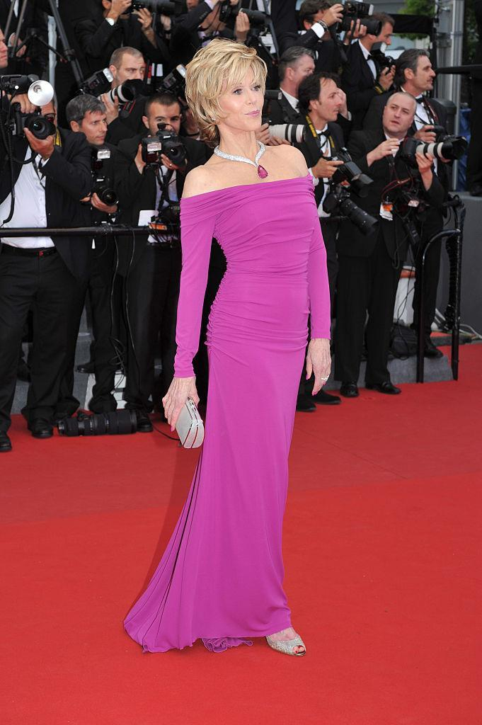 """<p><strong>When: May 19, 2013</strong><br>Fonda wowed the crowd in this fitted hot pink dress at the """"Inside Llewyn Davis"""" premiere at the 66th Cannes International Film Festival. <em>(Photo: Getty)</em> </p>"""