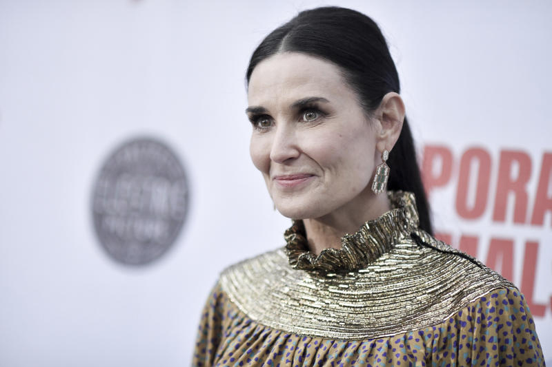 "Demi Moore attends the LA premiere of ""Corporate Animals"" at NeueHouse on Wednesday, Sept. 18, 2019, in Los Angeles. (Photo by Richard Shotwell/Invision/AP)"