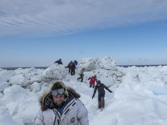 Chris Polashenski leads researchers preparing for the year-long Mosaic expedition (Bonnie Jo Mount)
