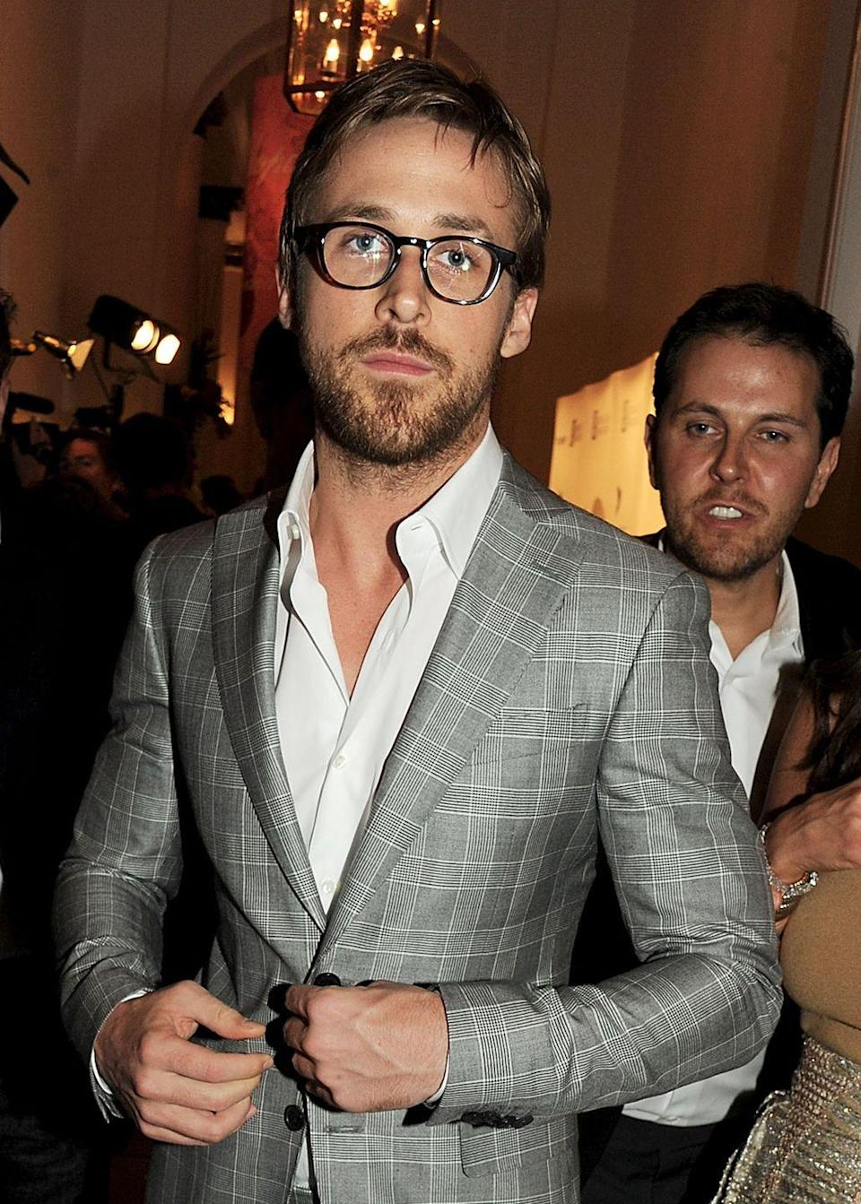 """<p>Even without a tie and a pair of glasses, <em><a href=""""https://www.menshealth.com/entertainment/a32630728/ryan-gosling-net-worth/"""" rel=""""nofollow noopener"""" target=""""_blank"""" data-ylk=""""slk:The Notebook"""" class=""""link rapid-noclick-resp"""">The Notebook </a></em><a href=""""https://www.menshealth.com/entertainment/a32630728/ryan-gosling-net-worth/"""" rel=""""nofollow noopener"""" target=""""_blank"""" data-ylk=""""slk:star"""" class=""""link rapid-noclick-resp"""">star</a> sure knows how to make people swoon with his slightly disheveled look. </p>"""