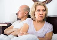 """Having contempt for your partner is one of the four behaviors that Gottman says is a telltale indicator of an impending divorce. In his research, he polled couples on how often they behaved with contempt, criticism, defensiveness, and stonewalling. Then, he measured perceived relationship satisfaction and found that the behaviors were over 90 percent successful in predicting divorce. According to Gottman, seeing your partner as inferior in particular is the """"kiss of death"""" for any relationship. And this makes sense, given that another 2010 study published in the <em>Journal of Marriage and Family </em>found that <a href=""""https://www.ncbi.nlm.nih.gov/pmc/articles/PMC3777640/"""" rel=""""nofollow noopener"""" target=""""_blank"""" data-ylk=""""slk:couples who showed contempt for each other"""" class=""""link rapid-noclick-resp"""">couples who showed contempt for each other</a> within their first year of marriage were more likely to divorce before their 16th wedding anniversary. Feel like things are past the point of no return? These are the <a href=""""https://bestlifeonline.com/marriage-counseling/?utm_source=yahoo-news&utm_medium=feed&utm_campaign=yahoo-feed"""" rel=""""nofollow noopener"""" target=""""_blank"""" data-ylk=""""slk:15 Signs You Should Go to Couples Therapy"""" class=""""link rapid-noclick-resp"""">15 Signs You Should Go to Couples Therapy</a>."""