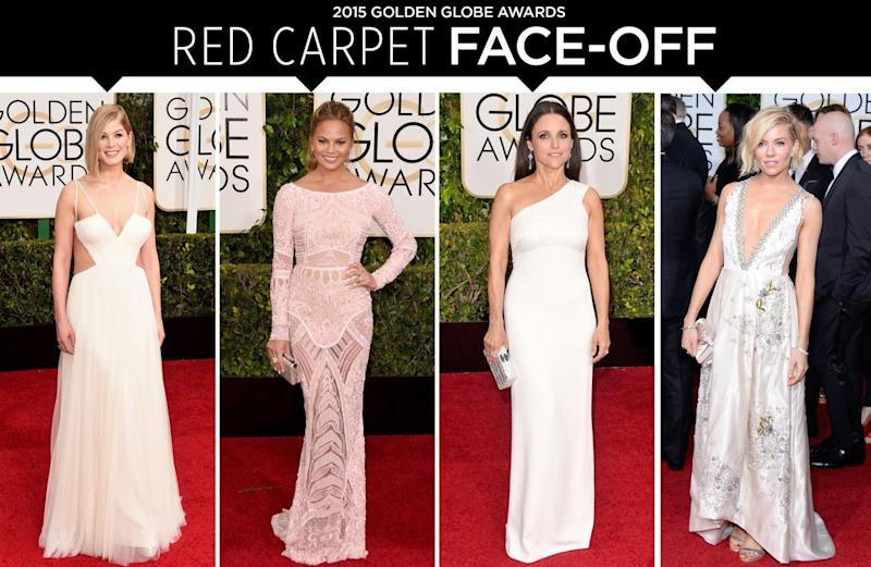 f8573298ed Golden Globes Red Carpet Face Off  Rosamund Pike