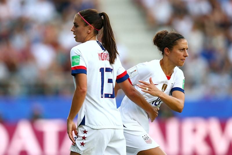 Will Alex Morgan (13) and Carli Lloyd play in the 2020 Olympics? Those are a couple decisions that lay ahead in Vlatko Andonovski's first year in charge of the USWNT. (Getty)