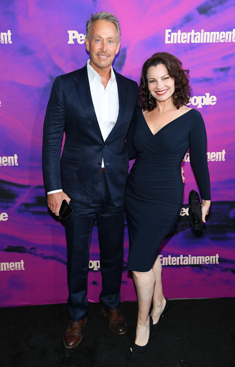 Peter Marc Jacobson and Fran Drescher. (Photo by Dimitrios Kambouris/Getty Images for Entertainment Weekly & PEOPLE)
