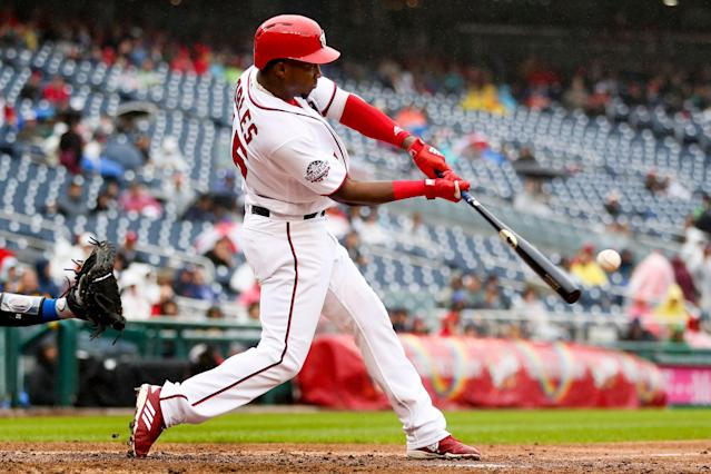 The Nationals' highly touted prospect should run away with the center fielder job. (AP Photo/Andrew Harnik)