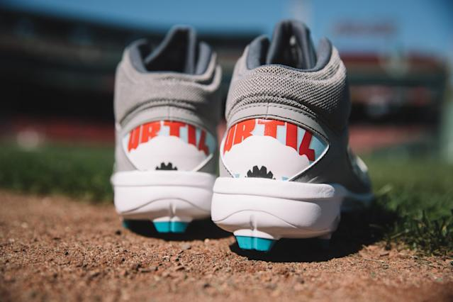 Yep, that's a shark on the Tampa-inspired Ortiz kicks. (New Balance)