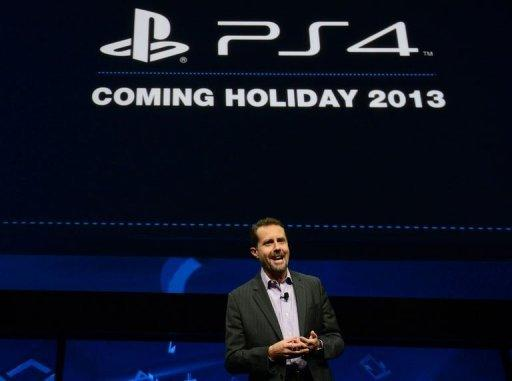 "Sony's Andrew House, head of Sony Computer Entertainment, introduces the PlayStation 4 at a news conference in New York last night. Sony laid out its vision for the ""future of gaming"" in a world rich with mobile gadgets and play streamed from the Internet cloud"