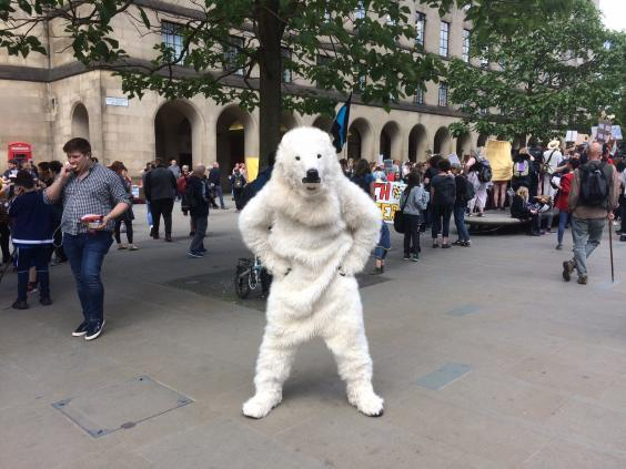 It was probably quite warm in the polar bear outfit (Colin Drury)