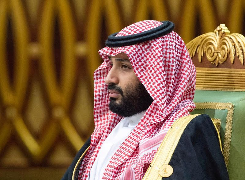 FILE PHOTO: Saudi Arabia's Crown Prince Mohammed bin Salman attends the Gulf Cooperation Council's (GCC) 40th Summit in Riyadh