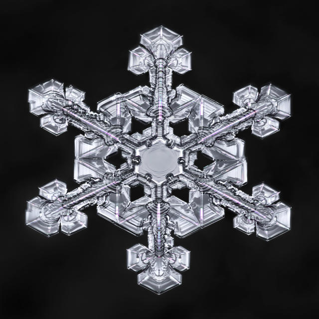 <p>Snowflakes can possess unending beauty and detail, even in a single crystal measuring only a few millimeters in diameter. (Photo: Don Komarechka/Caters News) </p>