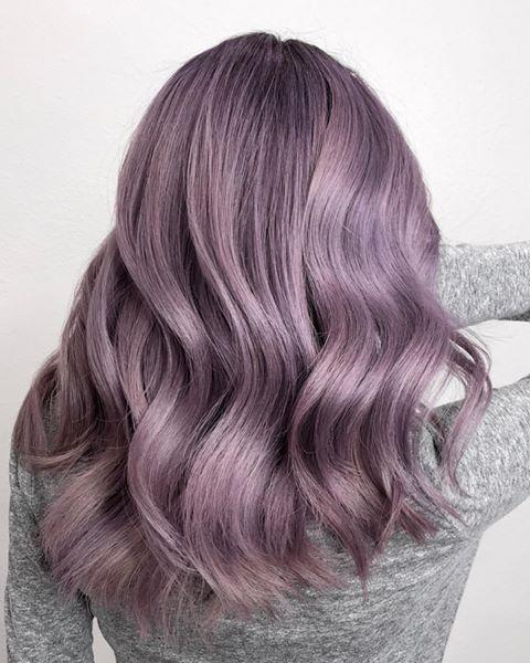 "<p>Cool, soft undertones are the key to recreating this lavender hair color. Just <strong>make sure you're using a <a href=""https://www.cosmopolitan.com/style-beauty/beauty/g28799147/shampoo-color-treated-hair/"" rel=""nofollow noopener"" target=""_blank"" data-ylk=""slk:color-safe shampoo"" class=""link rapid-noclick-resp"">color-safe shampoo</a> to cancel out any brass </strong>in between salon appointments.</p><p><a href=""https://www.instagram.com/p/CBwanbKpt3z/"" rel=""nofollow noopener"" target=""_blank"" data-ylk=""slk:See the original post on Instagram"" class=""link rapid-noclick-resp"">See the original post on Instagram</a></p>"