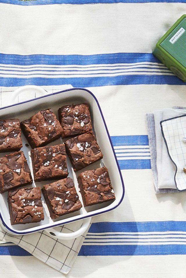 """<p>Calling all brownie fans! This rich, chewy recipe is here to make your day. The addition of stout makes it richer and more complex.</p><p><strong><a href=""""https://www.countryliving.com/food-drinks/recipes/a42463/fudgy-stout-brownies-recipe/"""" rel=""""nofollow noopener"""" target=""""_blank"""" data-ylk=""""slk:Get the recipe."""" class=""""link rapid-noclick-resp"""">Get the recipe.</a></strong></p><p><a class=""""link rapid-noclick-resp"""" href=""""https://www.amazon.com/USA-Pan-Bakeware-Nonstick-Aluminized/dp/B002UNMZO4/?tag=syn-yahoo-20&ascsubtag=%5Bartid%7C10050.g.5080%5Bsrc%7Cyahoo-us"""" rel=""""nofollow noopener"""" target=""""_blank"""" data-ylk=""""slk:SHOP BROWNIE PANS"""">SHOP BROWNIE PANS</a></p>"""