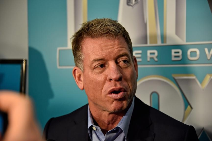Troy Aikman during media availability