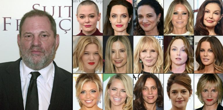 US producer Harvey Weinstein stands accused by around 40 actresses of sexual misconduct ranging from harassment to assault and rape