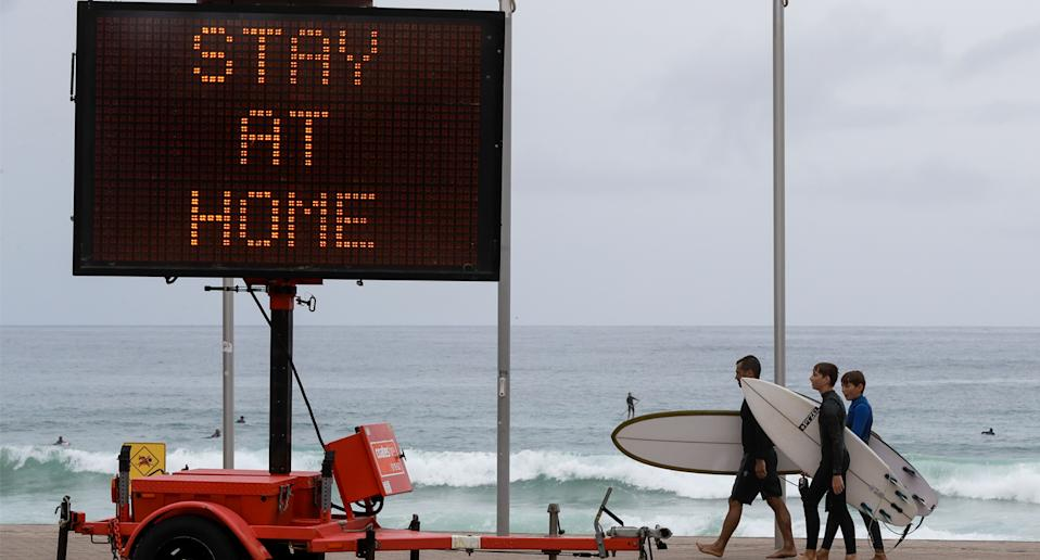 People across the Northern Beaches are required to stay home over Christmas. Source: AAP