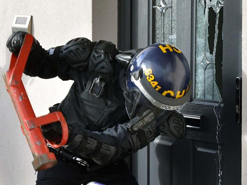 Police carrying out a raid at an address of those believed to be involved in County Lines drugs supply: PA