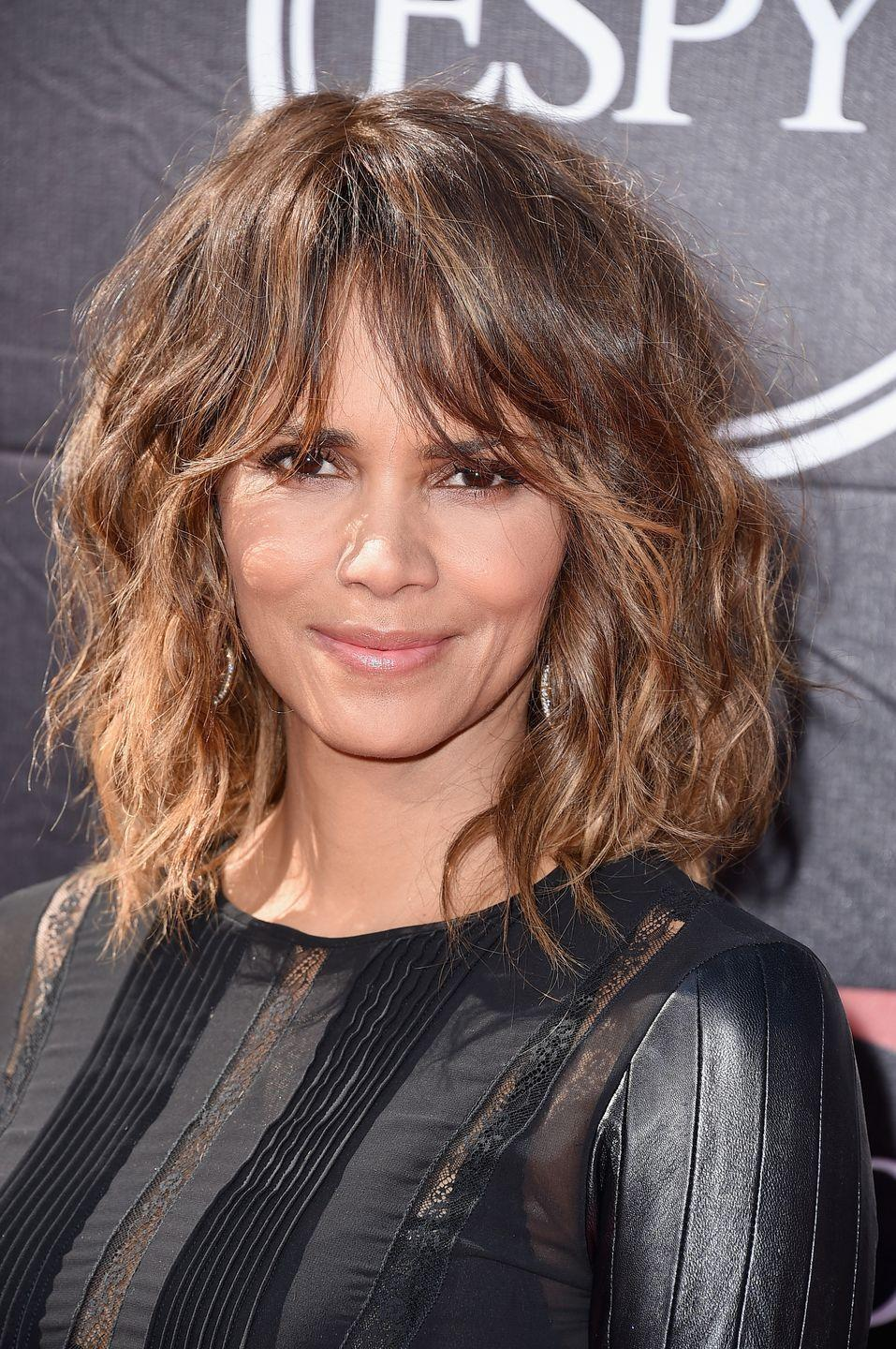 <p>If you're growing out a bob and you're getting bored of it, try adding some shaggy bangs to the mix.</p>