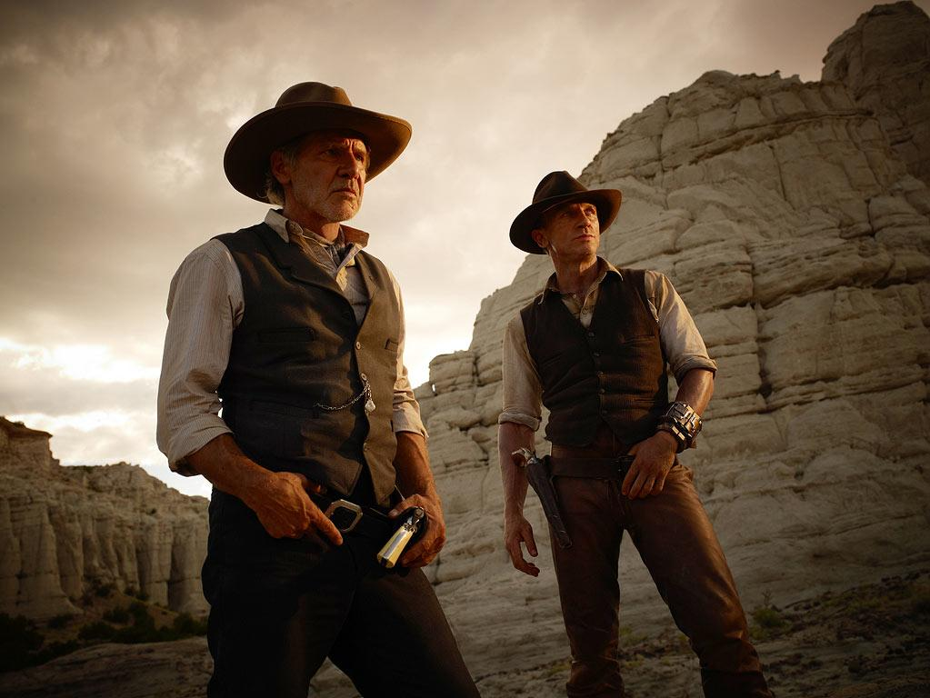 """<a href=""""http://movies.yahoo.com/movie/1810072508/info"""">COWBOYS & ALIENS</a>  Release Date: July 29, 2011  Starring: <a href=""""http://movies.yahoo.com/movie/contributor/1800023173"""">Daniel Craig</a>, <a href=""""http://movies.yahoo.com/movie/contributor/1808489542"""">Olivia Wilde</a> and <a href=""""http://movies.yahoo.com/movie/contributor/1800017113"""">Harrison Ford</a>"""