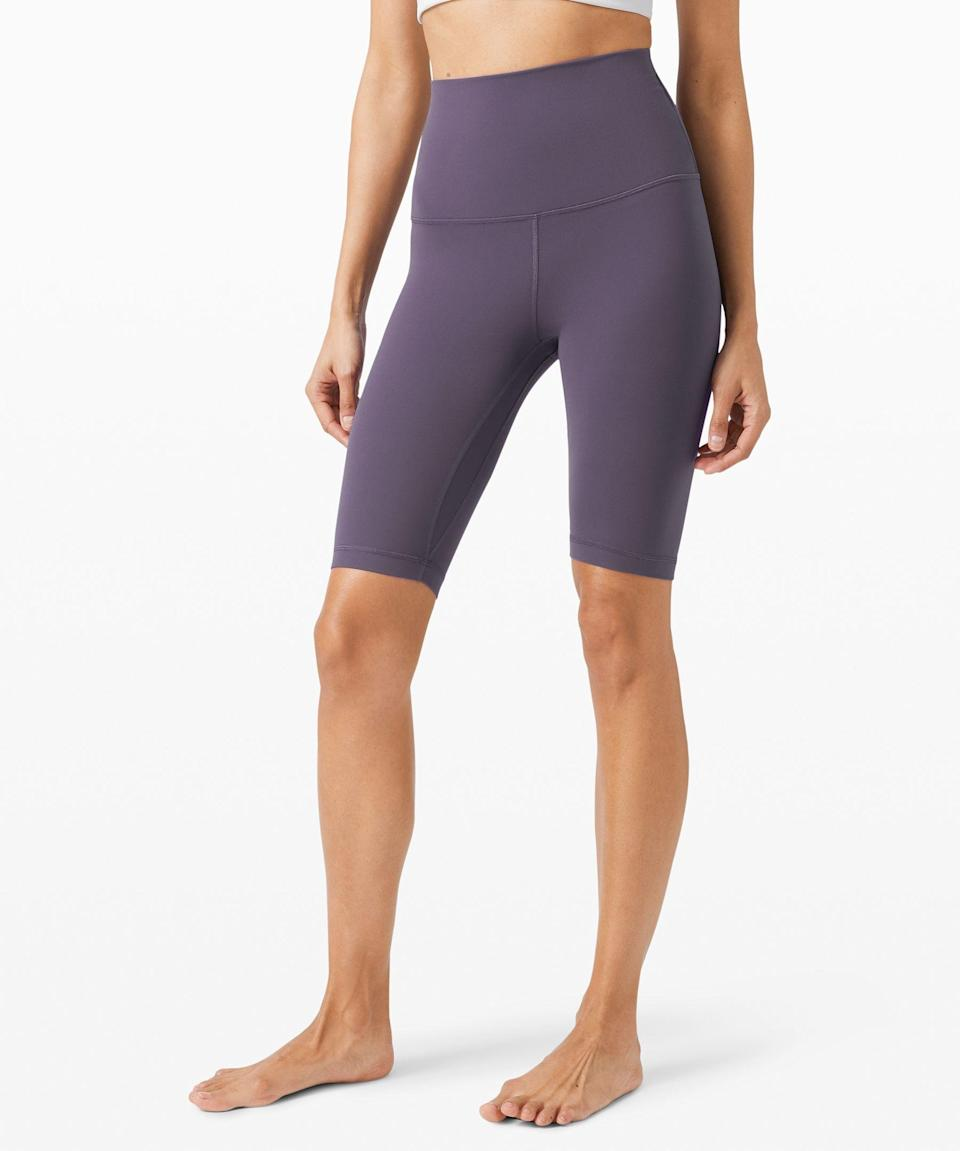 """<p><strong>Lululemon</strong></p><p>lululemon.com</p><p><strong>$58.00</strong></p><p><a href=""""https://go.redirectingat.com?id=74968X1596630&url=https%3A%2F%2Fshop.lululemon.com%2Fp%2Fgift-ideas%2FAlign-SHR-Short-10%2F_%2Fprod9710083&sref=https%3A%2F%2Fwww.womenshealthmag.com%2Ffitness%2Fg19820093%2Fbest-summer-workout-gear%2F"""" rel=""""nofollow noopener"""" target=""""_blank"""" data-ylk=""""slk:Shop Now"""" class=""""link rapid-noclick-resp"""">Shop Now</a></p><p>Made from the cult-favorite Align leggings and pants, these shorts are bound to become your new summer go-to (in all five colors). </p><p>They're also loved by pregnant women as maternity wear for how stretchy and buttery soft their signature Nulu fabric is. </p>"""