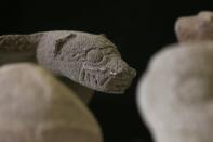 Pre-Columbian artifacts repatriated from the Brooklyn Museum in New York, U.S., are displayed for its classification by archaeologists at the facilities of the Costa Rica's National Museum, in Pavas