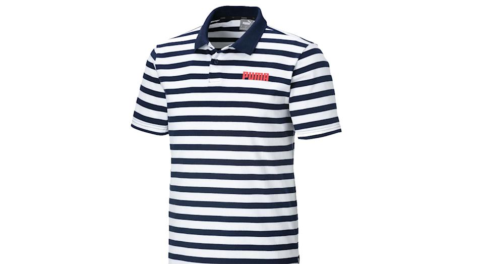 Elevated Essentials Striped Jersey Men's Polo