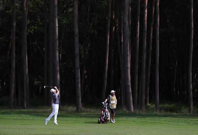Golf - European Tour - BMW PGA Championship - Wentworth Club, Virginia Water, Britain - May 26, 2018 Sweden's Alex Noren in action during the third round Action Images via Reuters/Peter Cziborra