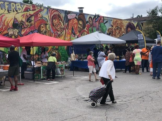 A new Afro-Caribbean farmer's market has opened in Little Jamaica to show some love to small businesses in midtown Toronto. (Robert Krbavac/CBC - image credit)
