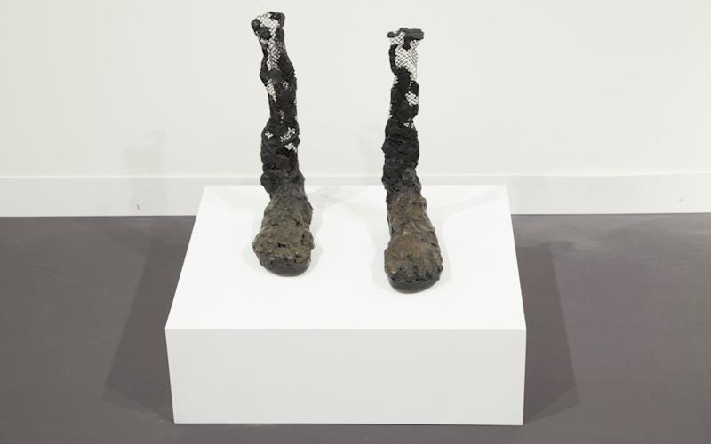 Untitled (bronze feet) (2007) exhibits Bhabha's interest in the human form, statuary and decay - Baltic