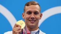 Swimming - Men's 100m Freestyle - Medal Ceremony