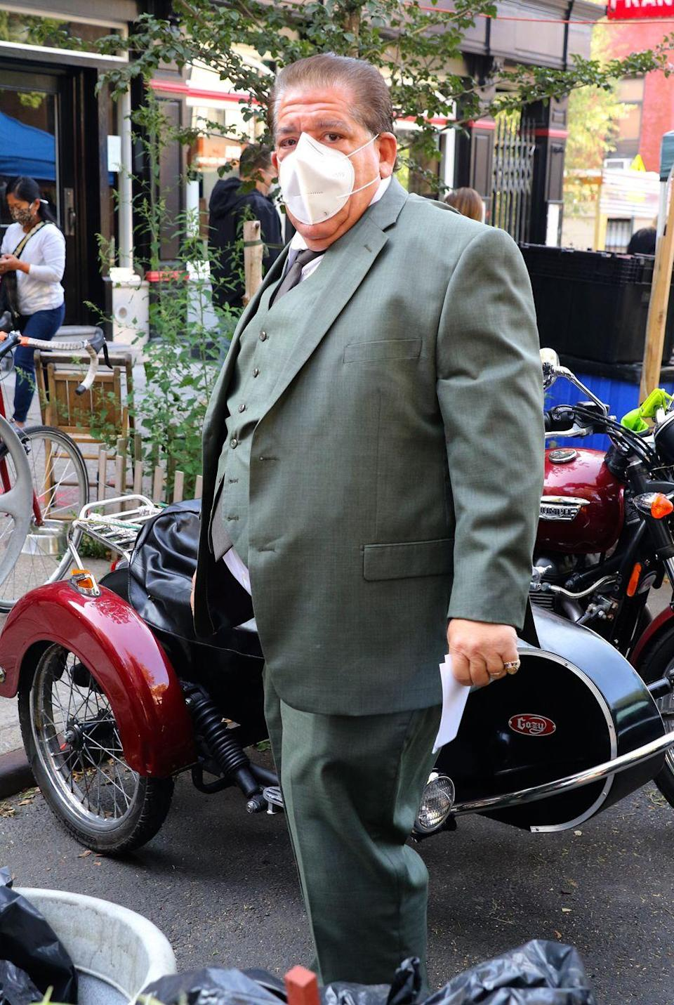 <p>Joey Diaz is seen on the set of <em>The Many Saints of Newark </em>on September 21, 2020 in New York City.</p>