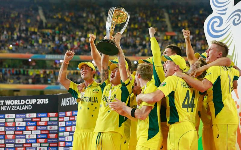 Australia lift the trophy four years ago and now have five World Cup triumphs to their name - Getty Images Contributor